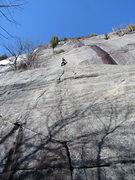 Rock Climbing Photo: Matt Dobbs leading P1.