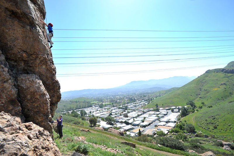 Rock Climbing Photo: Wesley Fienup (at 6 years old) climbs A Walk on th...