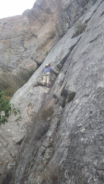Rock Climbing Photo: The initial dihedral on the climb. The climb then ...