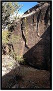 Rock Climbing Photo: Old Hat problem beta.