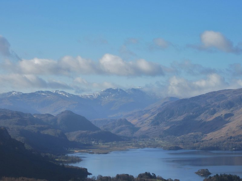 looking down the Borrowdale Valley