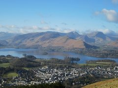 Rock Climbing Photo: The town of Keswick at the head of the Borrowdale ...