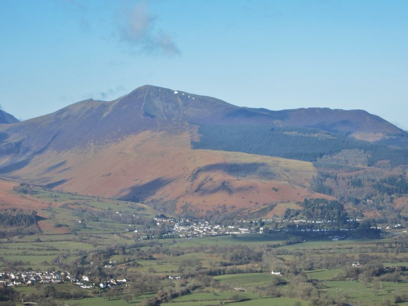 The village of Braithwaite below Grisdale Mt.