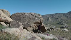 Rock Climbing Photo: Short overhang. Exit left or right, very top holds...