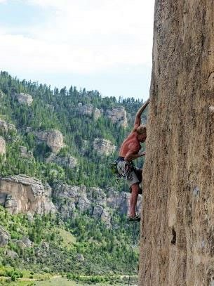 Rock Climbing Photo: Bo Earle leading