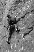 Rock Climbing Photo: Trying to puzzle out an onsight as my fingers free...