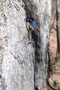 Rock Climbing Photo: Snagging a crafty rest before the last hard bit.  ...