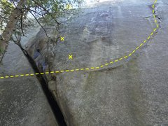 Rock Climbing Photo: The crux of Steps.