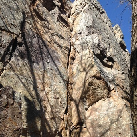 Rock Climbing Photo: A decent look at the route
