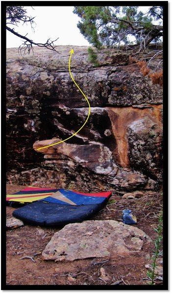 Rock Climbing Photo: Gone With The Gravity problem beta.