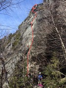 Rock Climbing Photo: The line of Fuck Rumney.  The Face of Family Picni...
