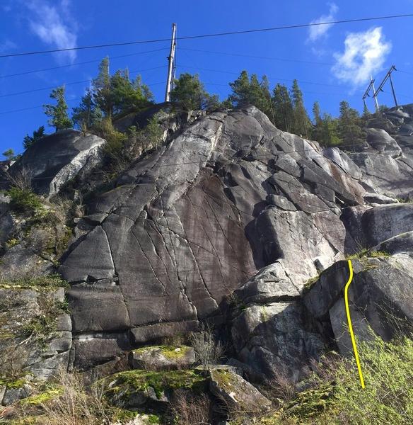Rock Climbing Photo: Gord's Block Topo