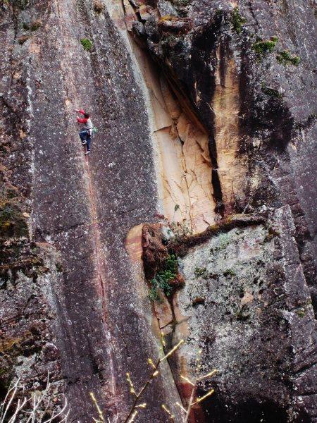 Rock Climbing Photo: Liam Questing