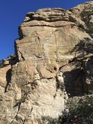 Rock Climbing Photo: Missing in Action follows the crack/flake system f...
