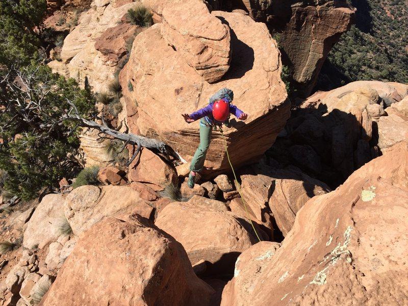 Rock Climbing Photo: Jump!