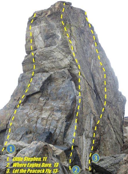 Rock Climbing Photo: Talon topo from the south.