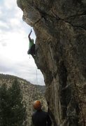 Rock Climbing Photo: Working up to the quartz rail on Where Eagles Dare...