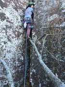 Rock Climbing Photo: Lan with the tree start. I was unable to move the ...