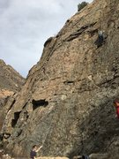Rock Climbing Photo: Slippery slab to begin with, make sure you have a ...