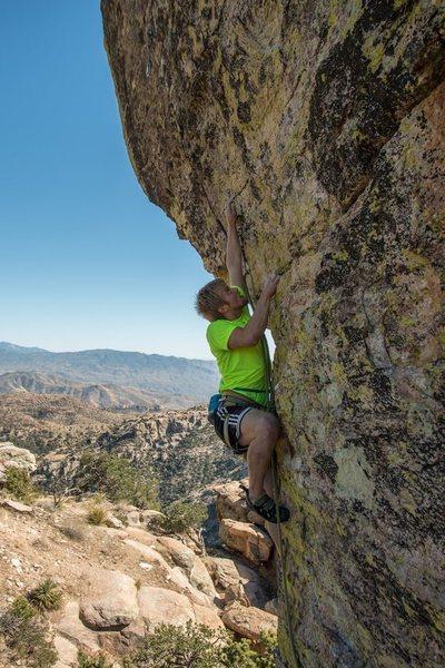 Rock Climbing Photo: Heading up to the second crux, FC: Alex Wakelin