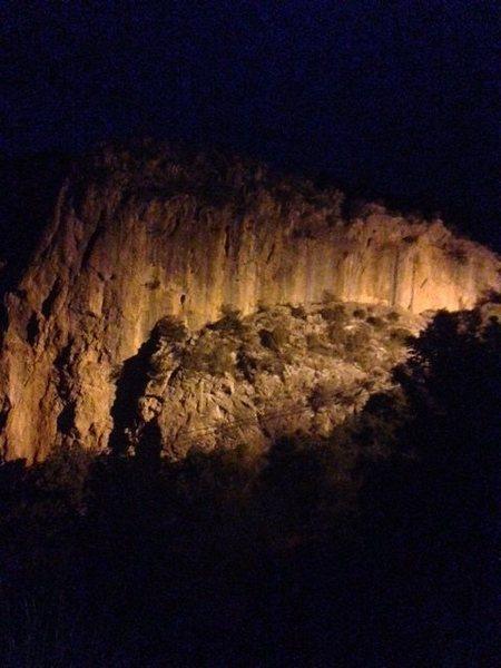 LaCegura at night.