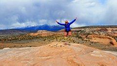 Rock Climbing Photo: Haley on the summit
