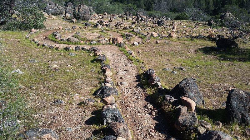 Weird rock labyrinths on the approach.