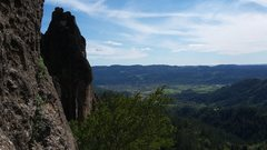 Rock Climbing Photo: Nice views from the base of the cliff.
