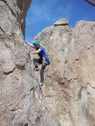 Rock Climbing Photo: Enjoying a Tootsie Pop.
