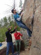 Rock Climbing Photo: Up and ova'.