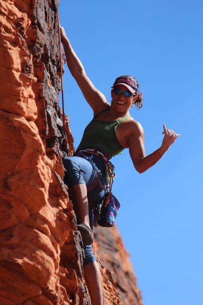 Hamming it up on Hamlet Wall, Red Rock NV