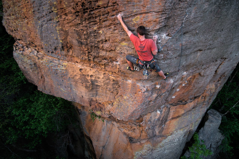 Rock Climbing Photo: My friend John Zdor starting up the airy arete. Aw...