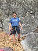 Rock Climbing Photo: First lead