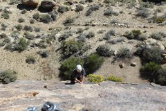 Rock Climbing Photo: just before the runout, if you don't place a yello...