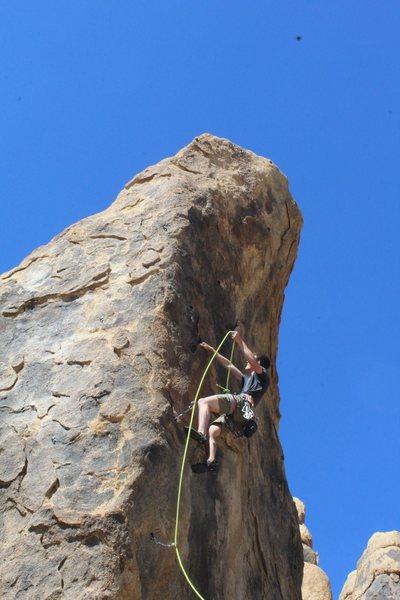Rock Climbing Photo: josh starting up lean cuisine