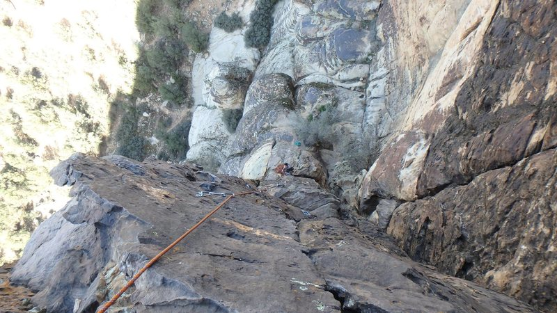 Rock Climbing Photo: Midway up pitch 2