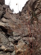 Rock Climbing Photo: Up towards the Stoked Bowl from the second pitch a...