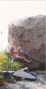 Rock Climbing Photo: Pete sending X-Factor back in the day.