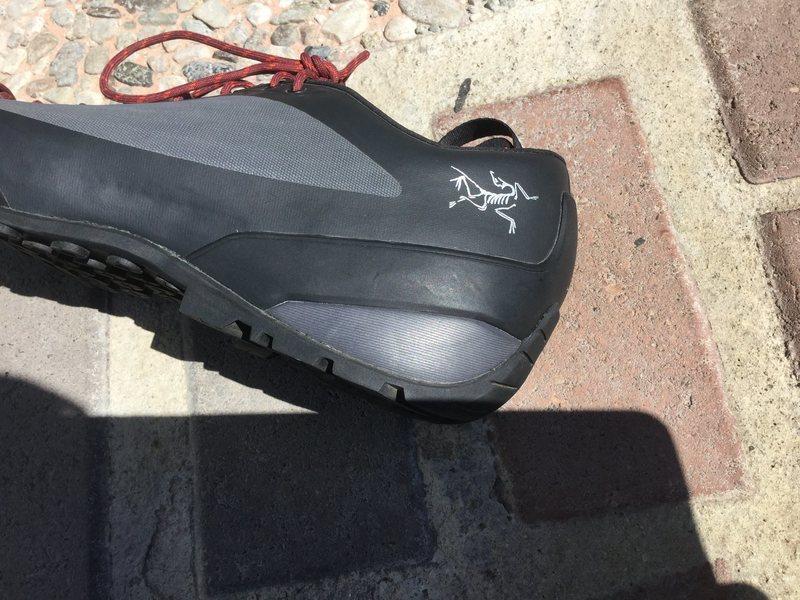 Arcteryx logo on the heel