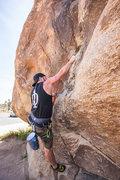 At Quial Springs, Trashcan Rock, Joshua Tree <br />