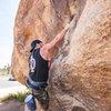 At Quial Springs, Trashcan Rock, Joshua Tree<br>