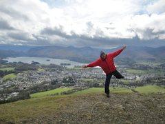 Rock Climbing Photo: Alan Hinkes  taking flight  on Latrigg
