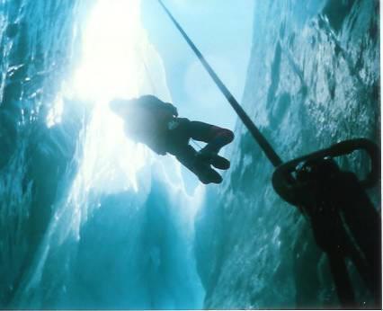 Teaching Crevasse Rescue on Mt Baker