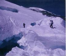 Rock Climbing Photo: Snow Bridge, Mt. Rainier Emmons/ Winthrop