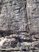 Rock Climbing Photo: Water Touching Stone topo