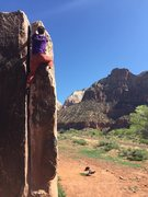 Rock Climbing Photo: Topping out on a great day