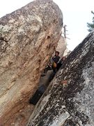 Rock Climbing Photo: Nate playing a game of Plinko deep in the SoCal wo...
