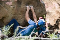 Rock Climbing Photo: Sean at the start of Bone chipper Photo: Chad Whit...