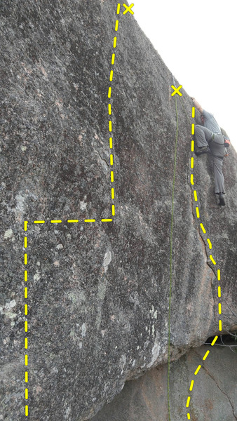 Rock Climbing Photo: Right side of photo is Rombatron and left side is ...