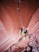 Rock Climbing Photo: The upper splitter. Miah Watt photo
